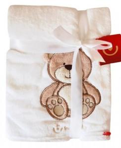 Kuschlige Babydecke mit 3D Applikation