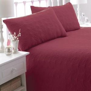 Patchwork Rot Tagesdecke Bettüberwurf Überwurf